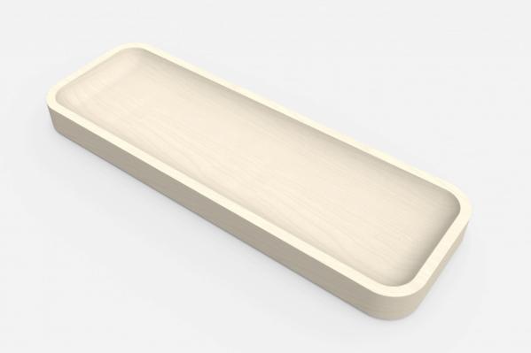 Pennebakke og bordbeslag i et og samme produkt, i birk