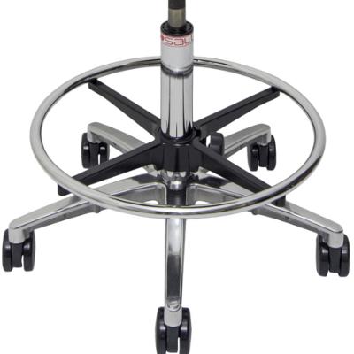 Billede af alu hjul understel med fodring til Salli sadelstol.