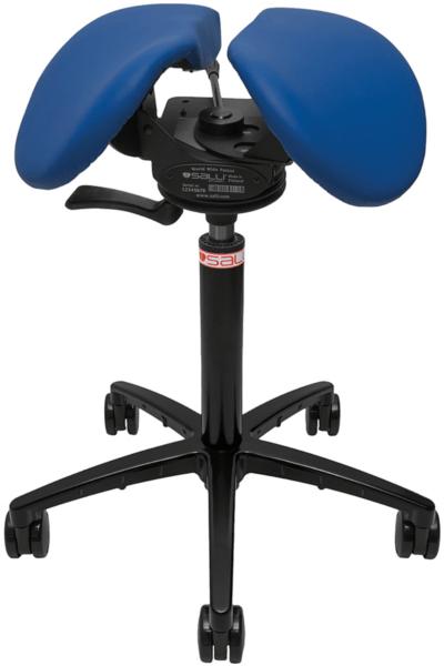 Billede af Salli SwingFit sadelstol med blåt sæde.