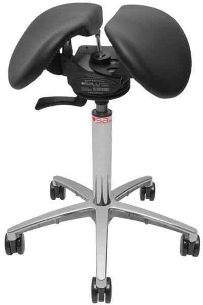 Billede af Salli SwingFit sadelstol med sort sæde.