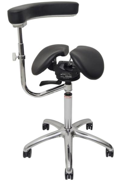 Billede af Salli SwingFit sadelstol med sort sæde og ryglæn.